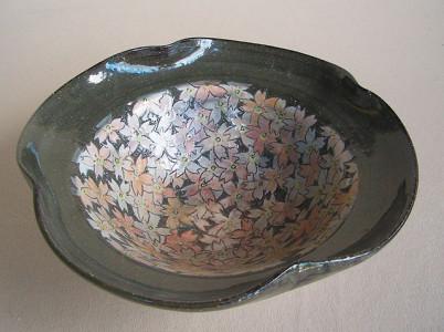 No.5桜紋菓子器